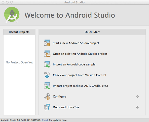 Android Studio установлен